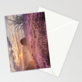 III - Blooming heather at sunrise, Posbank, The Netherlands Stationery Cards
