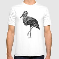 Stork MEDIUM Mens Fitted Tee White