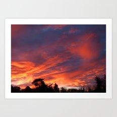 Sunrise In Cobham Surrey England Art Print