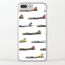 Classic B-17 Flying Fortress Continuous Pattern Clear iPhone Case