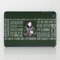 loki iPad Cases featuring Loki by MacGuffin Designs