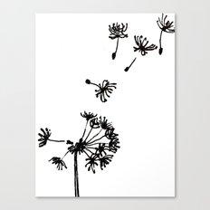 Dandelion Drawing Canvas Print