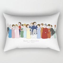 Cast of Jane Austen's Pride and Prejudice Rectangular Pillow