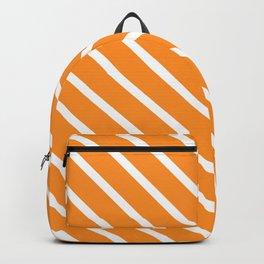 Tangerine Diagonal Stripes Backpack