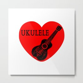Ukulele Love Metal Print