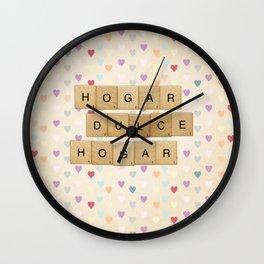 Hogar dulce Hogar (scrabble) Wall Clock