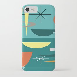Turquoise Mid Century Modern iPhone Case