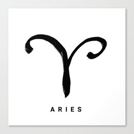 KIROVAIR ASTROLOGICAL SIGNS ARIES #astrology #kirovair #symbol #minimalism #home #decor Canvas Print