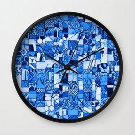 Tiles Delft Blue ~ 2 Wall Clock