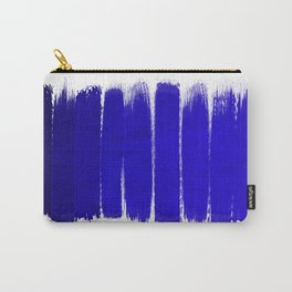 Shel - abstract painting painterly brushstrokes indigo blue bright happy paint abstract minimal mode Carry-All Pouch