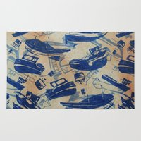 boats Area & Throw Rugs featuring Boats by Heather Fraser