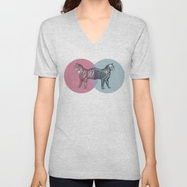 In which the cat is dead and alive Unisex V-Neck
