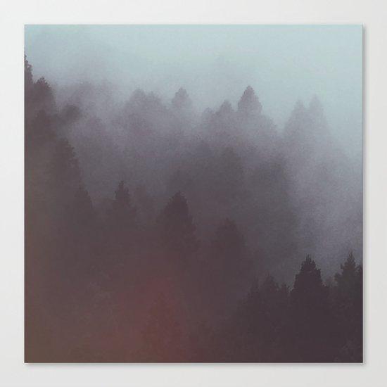 Watercolor Fog Canvas Print
