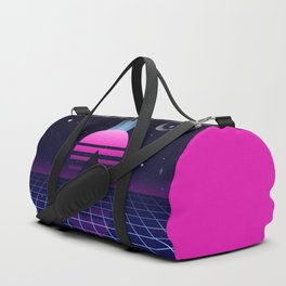 Neon Twilight Duffle Bag