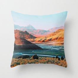 Mars Moos Throw Pillow