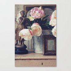 Flower & Bucket Canvas Print