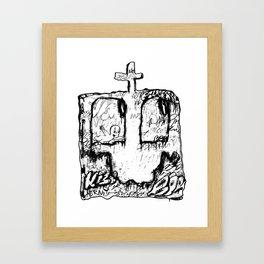 Happy Grave Framed Art Print