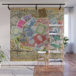 World Stamps Wall Mural