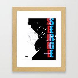 Serge Gainsbourg by VIP Framed Art Print