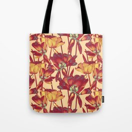 Tulips in Forever Golden Tote Bag