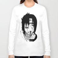 sasuke Long Sleeve T-shirts featuring Sasuke and Itachi - Naruto by SEANLAR94