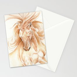 Golden Lusitano Stallion Study In Watercolor Stationery Cards