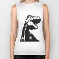 dinosaur Biker Tanks featuring dinosaur by Alexandr-Az