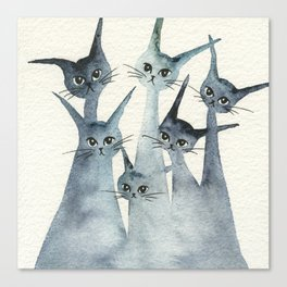Ashland Whimsical Cats Canvas Print