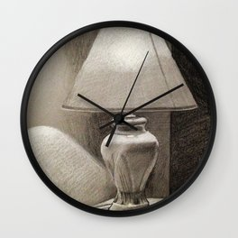 Lamp Light Study Wall Clock