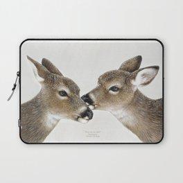 Kiss me my deer, by Claude Thivierge Laptop Sleeve