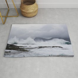 Waves in the Faroe Islands Rug
