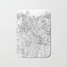 Jakarta White Map Bath Mat