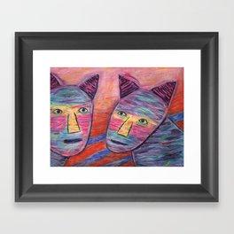 Cat Guys Framed Art Print