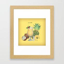 pina colada Framed Art Print