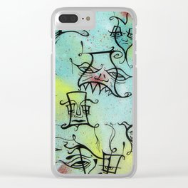 A Motley Crew Of Degenerates Clear iPhone Case