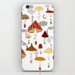 mushroom homes iPhone Skin