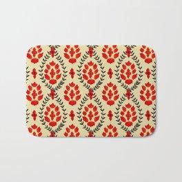 Lotus pattern in Watercolor Bath Mat
