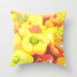 Lots of orange and red bell pepper Throw Pillow
