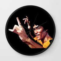lee pace Wall Clocks featuring lee by gazonula