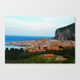 Cityscape of Cefalu Italy Canvas Print