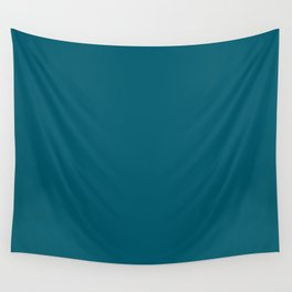 Sherwin Williams Trending Colors of 2019 Oceanside (Dark Aqua Blue) SW 6496 Solid Color Wall Tapestry