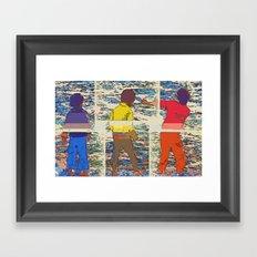 Jumping Stones Framed Art Print
