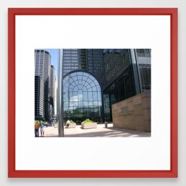 A Stroll Through The City Framed Art Print