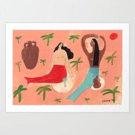 Mermaids talk Art Print