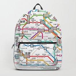 Tokyo Subway Map Backpack