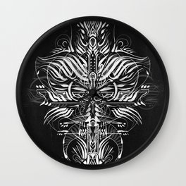 Line by Line Temple Wall Clock