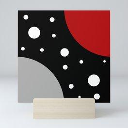 White dots Mini Art Print