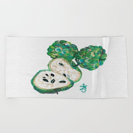 Sweet Sop Sugar Spring Beach Towel