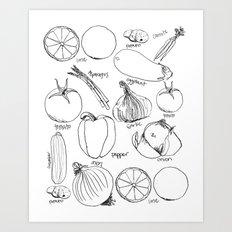 Produce Art Print