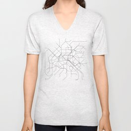Paris Metro Unisex V-Neck